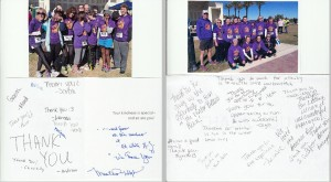 Thank You Cards from Ed White and Yulee High Schools