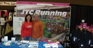 JTC Running Booth at Gate River Run Expo