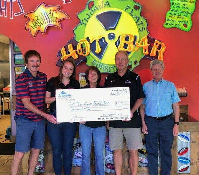 JTC Running Presents $9000 to Just In Queso Foundation