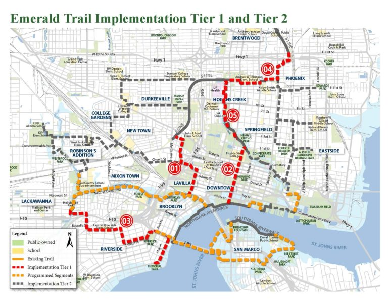 Emerald Trail Plan Adopted by Jacksonville City Council