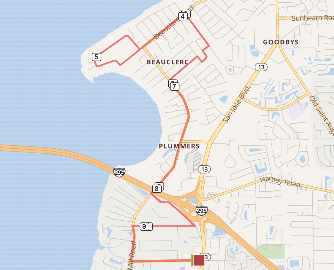 Jacksonville Running Routes - maps and descriptions