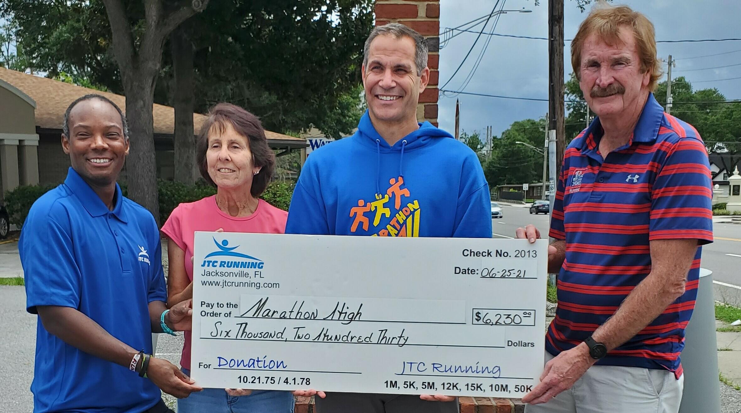 JTC Running Gives Marathon High $6230