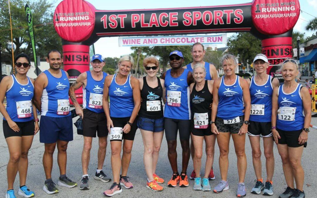 JTC Running Racing Team Wine and Chocolate 5K Run Results
